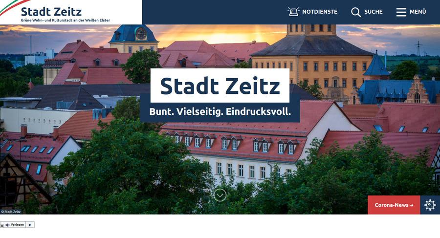 Neuer Internetauftritt Stadt Zeitz